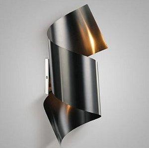 Arandela Steel Aço Preto Fosco + Luz AR-087/2.115PF