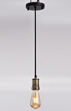 Pendente Thomas Edison com Bocal em Metal 05x09cm 1xE27 Cor Bronze Arquitetizze PD5721-1.000