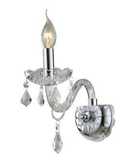 Arandela de Cristal Maria Thereza Transparente A30 X L24,5cm Arquitetizze AR1411-1.000