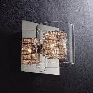 Arandela Ravel Metal e Vidro 13x15x13 Bella HO110A