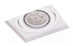 Spot/Luminária de Embutir No Frame Quadrado Metal Dicróica/LED GU10 11,5x11,5x4cm  Impacto F210/1