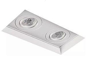 Spot/Luminária de Embutir No Frame Retangular Duplo/Finestra Metal Dicroica  Impacto F2102/2
