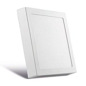 Luminária de Sobrepor Quadrada Branca 22,5x22,5cm  Bivolt  4000K  20W  1220LM 120º  Saveenergy SE-240.597