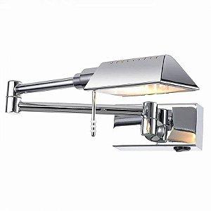 Arandela Mira Metal 32x12x12cm 1XG9  Cor Cromado Bella Iluminação MG015