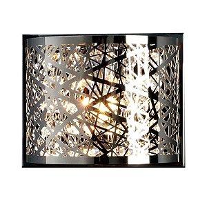 Arandela Vivace 10cmX13cmX16cm 1XG90 Cor Cromado e Transparente Bella Iluminação HO036