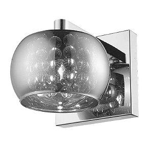 Arandela Soho Vidro 12xØ16 1XG9 Cor Cromado e Transparente Bella Iluminação HO7616CR