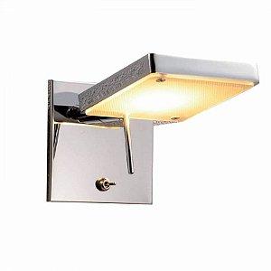 Arandela Mars Metal e Vidro 6,6W 3000K Quente 12x10x18 Cor Cromado Bella Iluminação ZU002