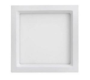 Luminária de Embutir Quadrada Branca 22,5x22,5cm Bivolt 20W  4000K  1220LM 120º  Saveenergy SE-240.1652
