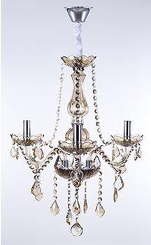 Lustre Maria Thereza Champagne 3 Braços E14 D55 x A55cm Arquitetizze LC1410-3.000