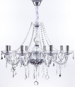 Lustre Maria Thereza Transparente 8 Braços Bocal E14 D66 x A50cm Arquitetizze LC1411-8.000