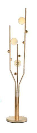 Abajur Marthas 3XG9 Gold Hevvy SL-5863/F3 GOLD+WH