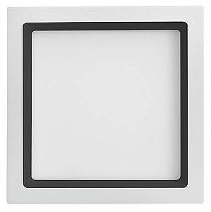 Luminária de Embutir Recuada Quadrada Branca com Recuo Preto 22,5x22,5cm Bivolt 20W 3000K 1220LM 120º Saveenergy SE-240.1675