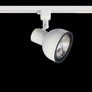 Spot Dome com Plug Altrac para Trilho Eletrificado AR-111 GU-10 Branco Fosco Altena ALT08011 BF