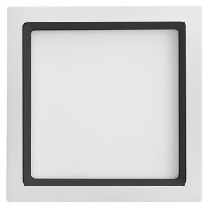 Luminária de Embutir Recuada Quadrada Branca com Recuo Preto 40x40cm Bivolt 36W 3000K 2300LM 120º Saveenergy SE-240.1681