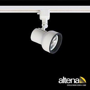 Spot Dome Com Plug Altrac Para Trilho Eletrificado AR-70 GU-10 Branco Fosco Altena ALT08070 BF