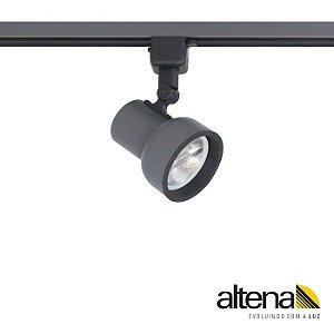 Spot Dome com Plug Altrac para Trilho Eletrificado AR-70 GU-10 Grafite Fosco Altena ALT08070 GF