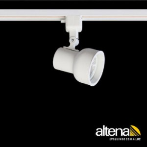 Spot Dome com Plug Altrac para Trilho Eletrificado AR-70 GU-10 Branco Mono Altena ALT08070 BM