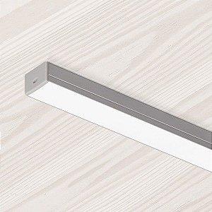 Perfil Retangular Pequeno de Sobrepor Sistema de Iluminação Linear 1MT Misterled SLED 9005