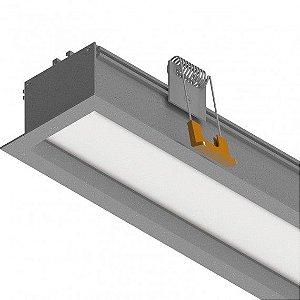 Perfil Embutir com Difusor Recuado 19W 12 VDC 1850 Lumens 1MT Misterled SLED9076