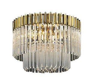 Pendente Louis 8L E14 Metal Cobre Cristal Transparente  8L. E14 MAX 40W BIVOLT Chandelie CH2215-2