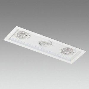 Embutido de Teto Linha Marcelli 3 - 21W  1932 Lm  460mmx160mmx80mm Misterled  SLED8803/7