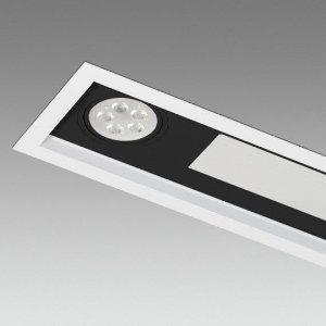 Embutidos de Teto Linha Piazza 22W 2138 Lm 640mmx160mmx80mm Misterled SLED8812/22