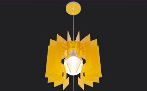 Pendente Héstia Amarelo Bellalux 180623