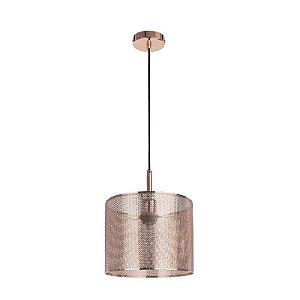 Pendente Telinha Metal 170xØ25cm 1XE27 Cor Cobre Bella Iluminação CI001