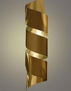 Arandela Wave G 68x15cm Cor Dourada 1x G9 Metal Domado 5525