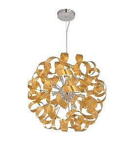 Pendente Tuft Metal 60cm 12xG9 40W Cor Dourado Casual Light ZW 227-DO