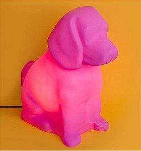 Luminária de Mesa Cachorro Toby Cor Rosa Usare TOBY