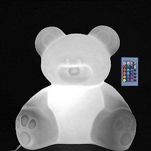 Luminária de Mesa Ursinho LED RGB com Fio e Controle Remoto Usare US47