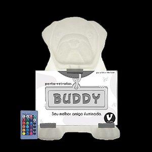 Luminária de Mesa Buddy LED RGB com Fio e Controle Remoto Usare BUDDY