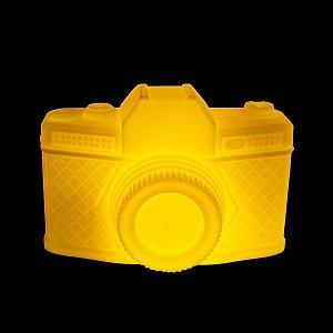 Luminária de Mesa Câmera Cor Amarela Usare CAMERA