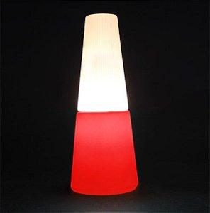 Luminária de Mesa Esmalte Cor Vermelho Usare ESMALTEV
