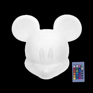 Luminária Mickey LED RGB com Fio e Controle Remoto Usare MICKEYLED