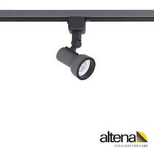 Spot Dome com Plug Altrac para Trilho Eletrificado GU-10 Grafite Fosco Altena ALT08016GF
