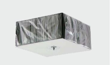 Plafon em Alumínio + Tecido Preto + Difusor em Acrílico Parte Inferior e 27 3l - 40x40x18 cm Adn+ P80203bk