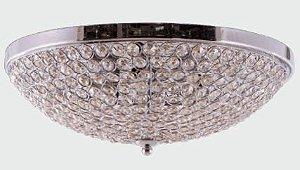 Plafon Metal + Cristal 3 lamp. G9 φ320*120 Champagne BIVOLT Adn+ MX120715-3 CH+CP
