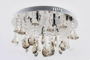 Plafon com Kit Lustre (Pendente ou Lustre ) de Cristal 4 lamp. G9 300 mm Adn+ 9289(300)