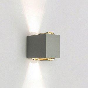 Arandela Lens – 220V LED 2700K – 100 x 150 x 155mm Cor Fendi Fosco (Concreto) Newline SNT026LED2FF