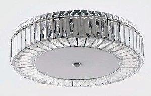 Plafon Redondo Cristal Transparente 9 Lâmpadas G9 ø 50cm Adn+ 8169-X9