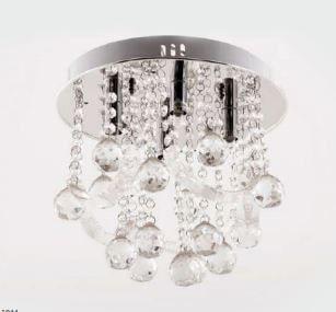Plafon Catarina Cristal Transparente ø 30cm 4xG9 Bivolt Adn+ SYF1608CH