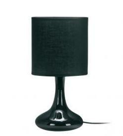 Abajur Verona Cerâmica Redondo Esfera Cúpula Tecido 16x33cm 1xE27 Cor Preto Casual Light QAB916-PT