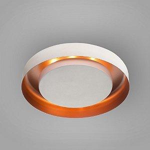 Luminária Embutir Eclipse Redonda 40cm Branca Interno Branca Itamonte 3046/40