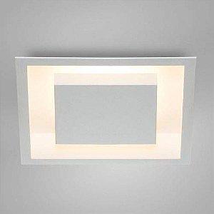 Luminária de Embutir Eclipse Quadrada  38x38cm Bco Luz indireta Itamonte 2041/38