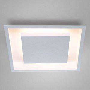 Luminária Rebatedor Eclipse de Embutir em Alumínio 50x50 H78cm 8 G9 ou 4 E27 Itamonte 2041/50