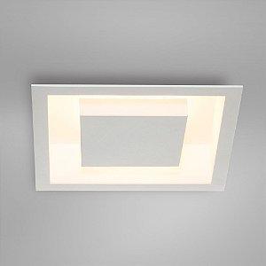 Painel Embutir Quadrado  D30 x 30cm x H8cm 2xE27 Branco Itamonte Nac 2041/30
