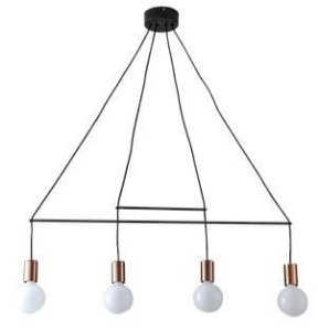 Pendente Trace Metal 89x105cm 4xE27 40W Cor Cobre Casual Light QPD1353