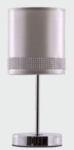 Abajur Ariel Prata 2 Bivolt Abajour Cromo + Tecido Prata 1 lamp.e27 140xh370 Adn+ T003SL 2
